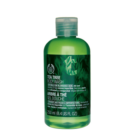body shop body wash tea tree